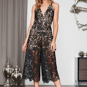 Dress The Population Marion Lace Romper/jumsuit